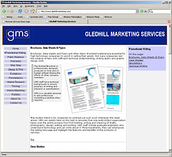 Page from GMS web site
